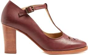A.P.C. Marion T-bar leather pumps
