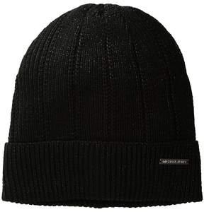 MICHAEL Michael Kors Lady-Like Metallic Cuff Hat Caps