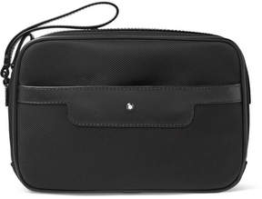 Montblanc Nightflight Leather-Trimmed Nylon Pouch