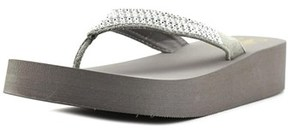 Callisto St. Barth Women Open Toe Synthetic Gray Wedge Sandal.