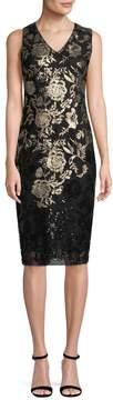 Donna Ricco Women's Metallic Sequin Dress