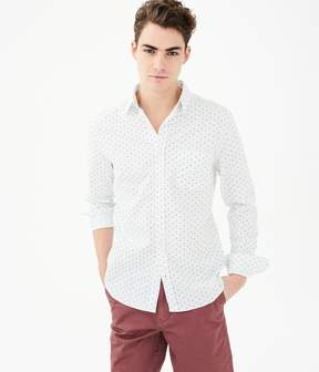 Aeropostale Long Sleeve Mini Waves Woven Shirt