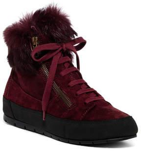 Manas Design Faux Fur Suede Sneaker