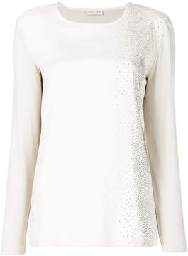 Le Tricot Perugia long sleeved sparkle top