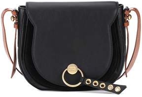 See by Chloe Lumir Large leather and suede shoulder bag