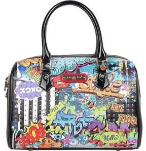 Nicole Lee Street Style Graffiti Print Boston Bag (Women's)