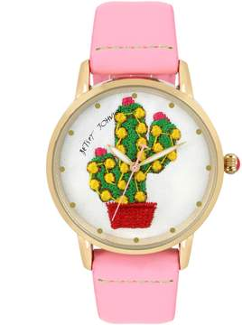 Betsey Johnson EMBROIDERED CACTUS WATCH