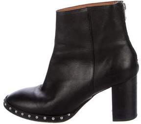 AllSaints Leather Stud Booties