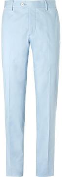 Caruso Blue Slim-Fit Stretch-Cotton Suit Trousers