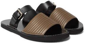 Dries Van Noten Quilted Leather Slides