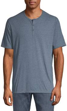 John Varvatos Men's Short Sleeve Henley T-Shirt