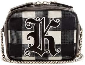 Christopher Kane Embroidered gingham cross-body bag