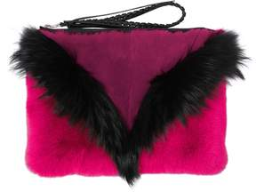 Liu Fox & Rex Rabbit Fur Pouch