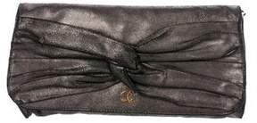 Just Cavalli Metallic Bow Clutch