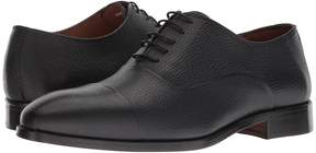 Matteo Massimo Pebbled Bal CT Men's Lace Up Cap Toe Shoes