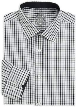 English Laundry Men's Plaid Cotton Dress Shirt