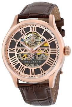 Co Brooklyn Watch Brooklyn Bridgewater Skeleton Automatic Grey Dial Men's Watch