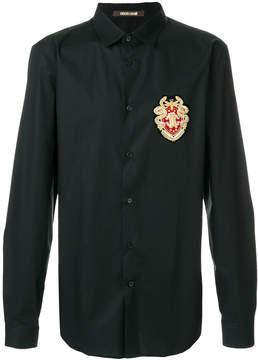 Roberto Cavalli appliqué patch shirt