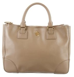 Tory Burch Robinson Double-Zip Tote - BROWN - STYLE