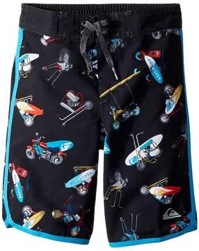 Quiksilver Moto Mayhem 14 Boardshorts Boy's Swimwear