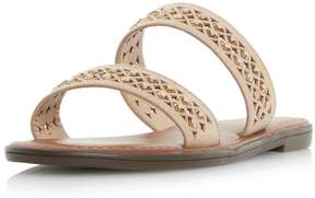 Head Over Heels *Head Over Heels By Dune Taupe 'Luminosa' Flat Sandals