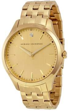 Armani Exchange Gold Dial Gold-tone Men's Watch