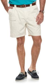 Croft & Barrow Big & Tall Relaxed-Fit Side-Elastic Twill Cargo Shorts