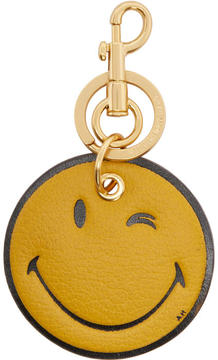 Anya Hindmarch Yellow Wink Keychain