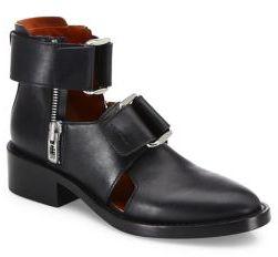 3.1 Phillip Lim Addis Cutout Leather Booties