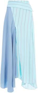 3.1 Phillip Lim Mixed Stripe Silk Maxi Skirt
