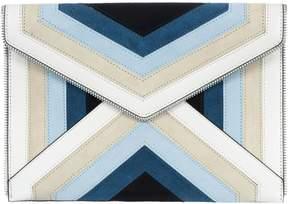 Rebecca Minkoff Leo Clutch Bag - BLUE-MULTI - STYLE