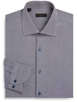 Saks Fifth Avenue COLLECTION Textured Cotton Dress Shirt