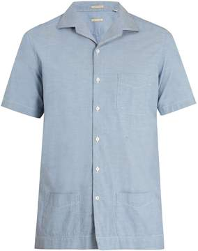 Massimo Alba Cuban-collar short-sleeved shirt