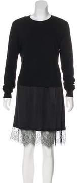 Clu Silk-Accented Knee-Length Dress