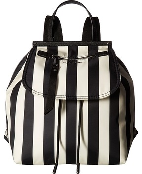 Marc Jacobs Stripes Printed Trooper Backpack Backpack Bags - BLACK MULTI - STYLE