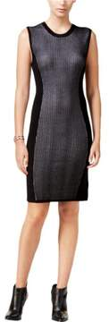 BCBGeneration Womens Knit Mixed Media Wear to Work Dress