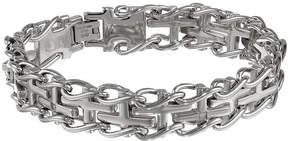 JCPenney FINE JEWELRY Mens Stainless Steel Railroad Cross Bracelet