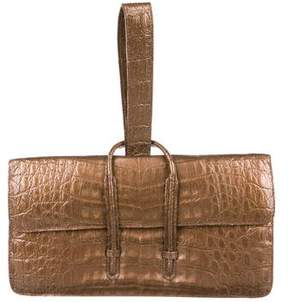 Nancy Gonzalez Crocodile Wristlet
