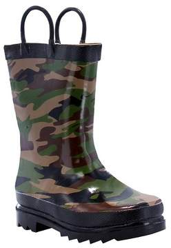 Western Chief Toddler Boy Camo Rain Boot Green
