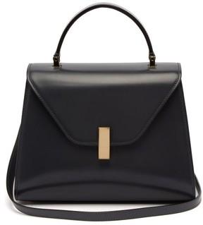 Valextra Iside Medium Leather Bag - Womens - Dark Grey
