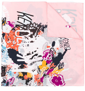 Kenzo graphic printed scarf