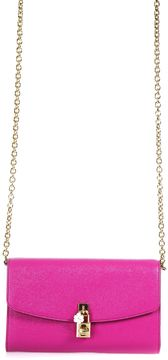 Dolce & Gabbana Dolce Leather Crossbody Bag - FUXIA - STYLE