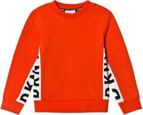 DKNY Orange Side Branded Sweater