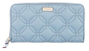 Kate Spade Quilted Leather Wallet - BLUE - STYLE