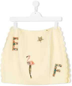 Elisabetta Franchi La Mia Bambina TEEN sequin embellished skirt