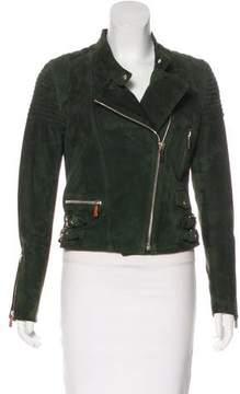 Barbara Bui Suede Moto Jacket