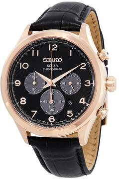 Seiko Core Solar Chronograph Black Dial Men's Watch