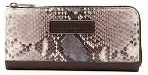 Longchamp Legend Snake Embossed Leather Zip Wallet - TAUPE - STYLE
