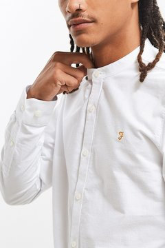 Farah Band Collar Button-Down Shirt