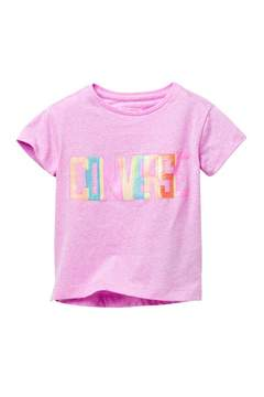 Converse Neon Lights Boxy Tee (Little Girls)